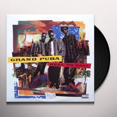 Grand Puba REEL TO REEL (ORANGE YELLOW / BLUE WHITE VINYL) Vinyl Record