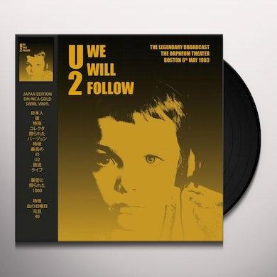 U2 We will follow:orpheum theater boston Vinyl Record