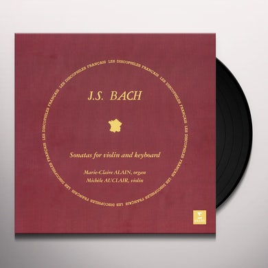 Michele Auclair BACH: SONATAS FOR KEYBOARD & VIOLIN Vinyl Record