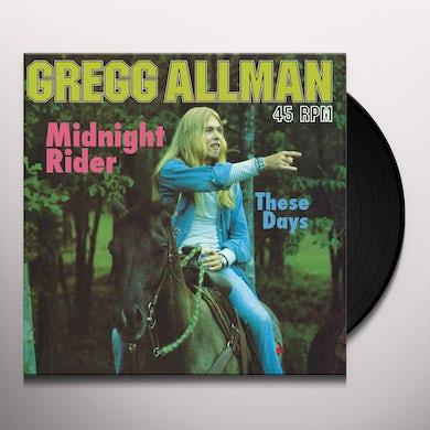 Gregg Allman MIDNIGHT RIDER / THESE DAYS (ALL-ANALOG 12 INCH) Vinyl Record