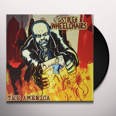 Stolen Wheelchairs AMERICA (HALF YELLOW HALF RED WITH BLACK SPLATTER) Vinyl Record
