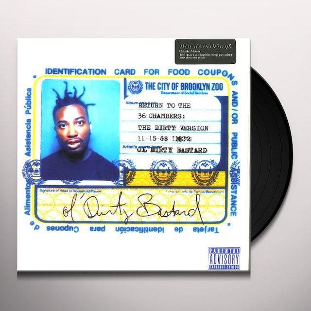 Ol Dirty Bastard RETURN TO THE 36 CHAMBERS (DIRTY VERSION) Vinyl Record