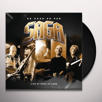 Saga SO GOOD SO FAR: LIVE AT ROCK OF AGES Vinyl Record