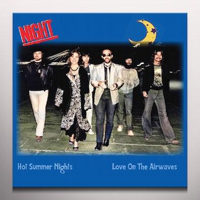 HOT SUMMER NIGHTS / LOVE ON THE AIRWAVES Vinyl Record - Blue Vinyl
