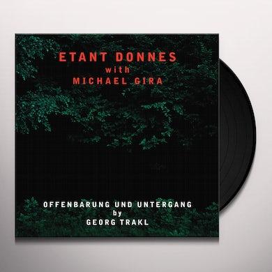 Etant Donnes & Michael Gira OFFENBARUNG UND UNTERGANG Vinyl Record