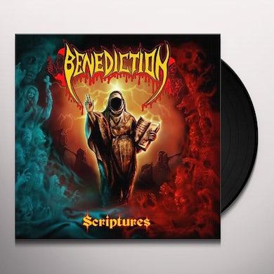 Benediction SCRIPTURES (RED/BLACK SWIRL) Vinyl Record