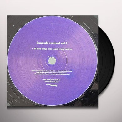 Kuniyuki REMIXED VOL1 (THEO PARRISH REMIXES Vinyl Record