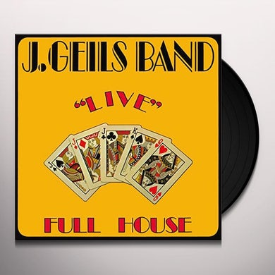 J Band Geils LIVE FULL HOUSE Vinyl Record