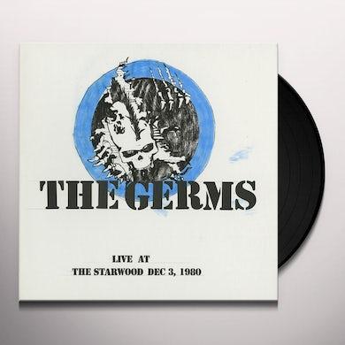Germs LIVE AT STARWOOD DEC. 3 1980 Vinyl Record