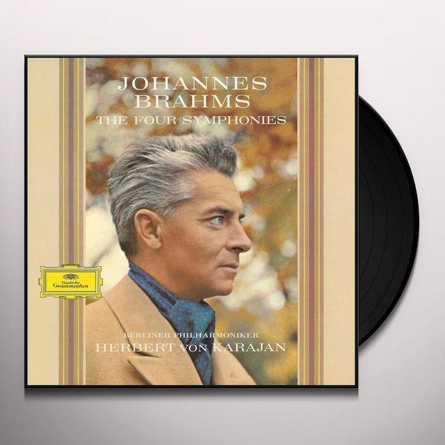 Brahms / Berliner Philharmoniker / Karajan FOUR SYMPHONIES Vinyl Record