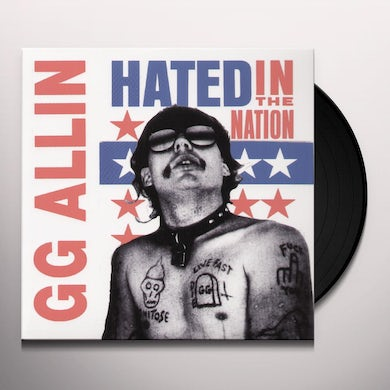 Gg Allin HATED IN THE NATION Vinyl Record