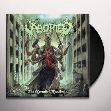 Aborted NECROTIC MANIFESTO Vinyl Record - UK Release
