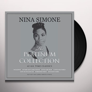 Nina Simone PLATINUM COLLECTION (WHITE VINYL) Vinyl Record