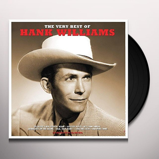 Hank Williams VERY BEST OF Vinyl Record