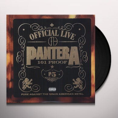 Pantera OFFICIAL LIVE Vinyl Record
