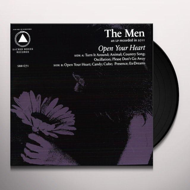The Men OPEN YOUR HEART Vinyl Record