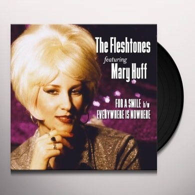 The Fleshtones FOR A SMILE B/W EVERYWHERE IS NOWHERE Vinyl Record - Digital Download Included