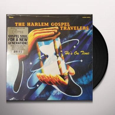 Harlem Gospel Travelers HE'S ON TIME (COLOR VINYL) Vinyl Record
