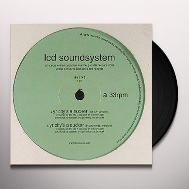 LCD Soundsystem YR CITY'S A SUCKER Vinyl Record