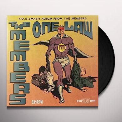 MEMBERS ONE LAW Vinyl Record