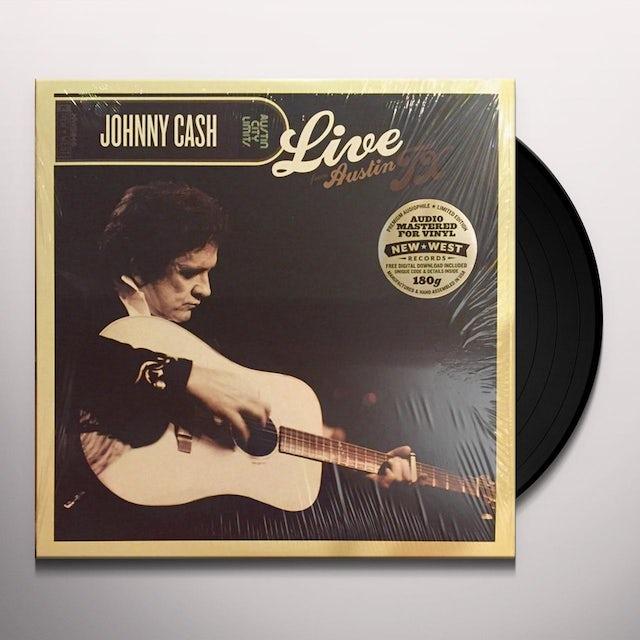 Johnny Cash LIVE FROM AUSTIN TX Vinyl Record
