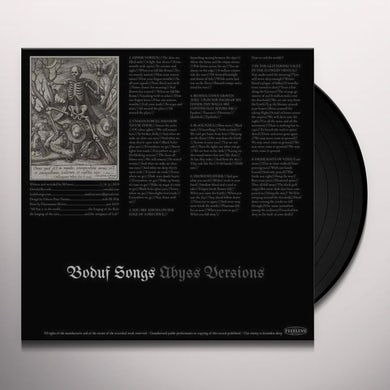 Boduf Songs ABYSS VERSIONS Vinyl Record