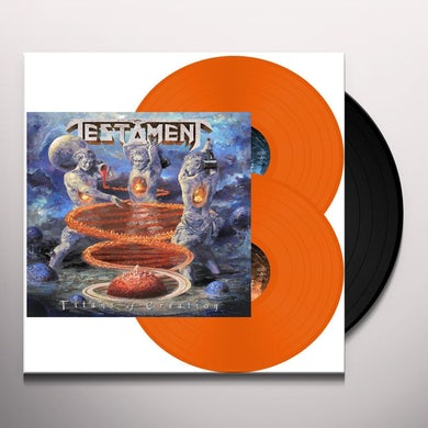 Testament TITANS OF CREATION (ORANGE VINYL) Vinyl Record