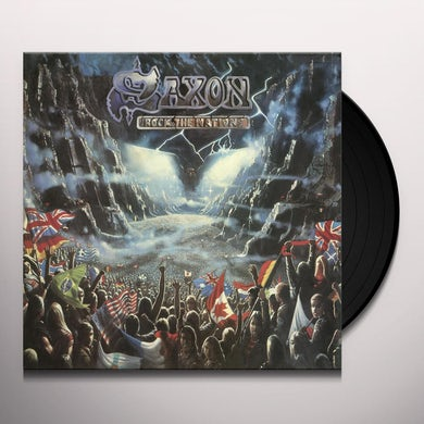 Saxon ROCK THE NATIONS - Limited Edition Red, White & Blue Tri-Colored Vinyl Record