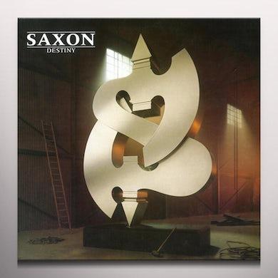 Saxon DESTINY - Limited Edition Gold & Brown Colored Vinyl Record