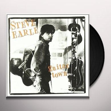 Steve Earle & The Dukes GUITAR TOWN Vinyl Record