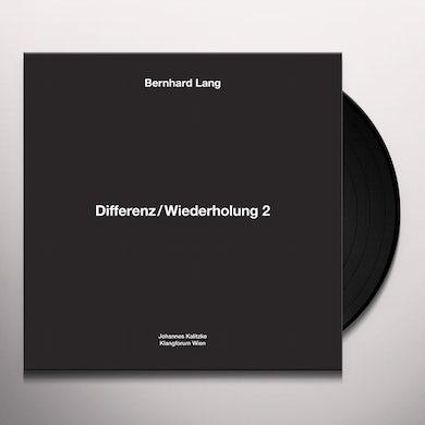 Bernhard Lang DIFFERENZ / WIEDERHOLUNG 2 Vinyl Record