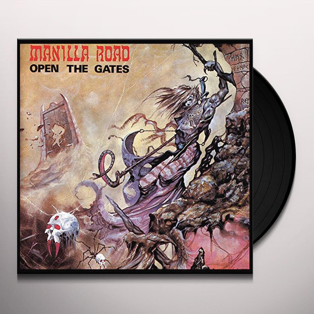 Manilla Road OPEN THE GATES (CLEAR VINYL) Vinyl Record