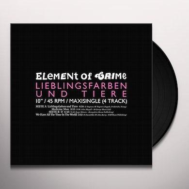 Element Of Crime LIEBLINGSFARBEN & TIER Vinyl Record