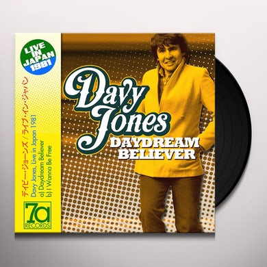 Davy Jones DAYDREAM BELIEVER / I WANNA BE FREE: LIVE IN Vinyl Record