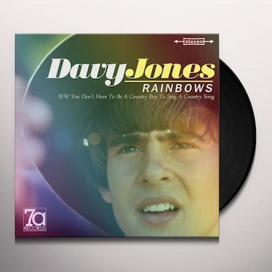 Davy Jones RAINBOWS / YOU DON'T HAVE TO BE A COUNTY BOY TO Vinyl Record