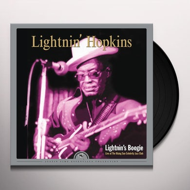 Lightnin Hopkins LIGHTNIN'S BOOGIE: LIVE AT THE RISING SUN CELEBRIT Vinyl Record