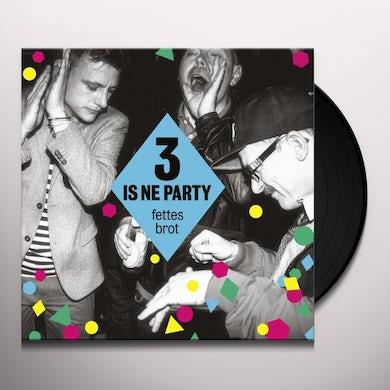 Fettes Brot 3 IS NE PARTY Vinyl Record