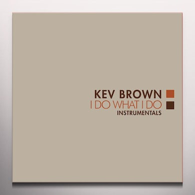 Kev Brown I DO WHAT I DO (INSTRUMENTALS) - Limited Edition Orange Colored Vinyl Record