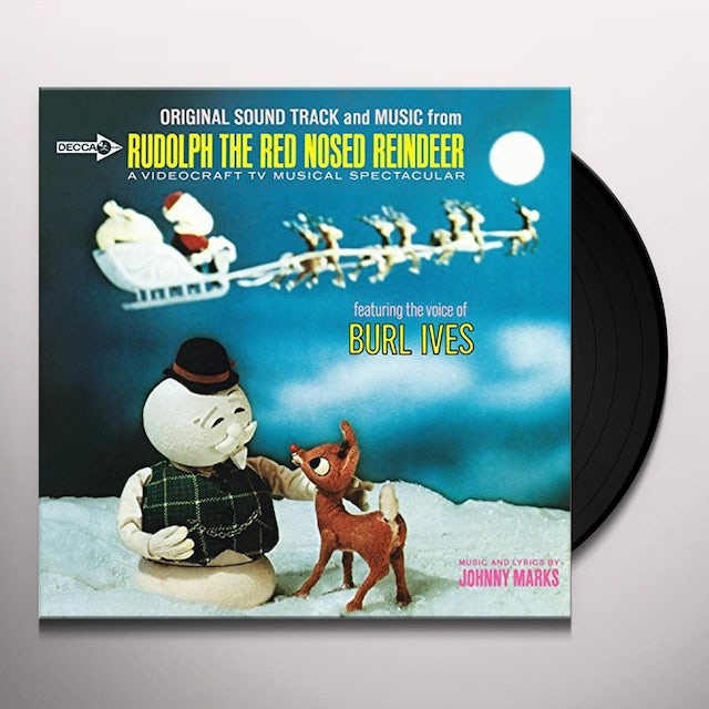 Burl Ives Christmas.Burl Ives Rudolph The Red Nosed Reindeer Vinyl Record