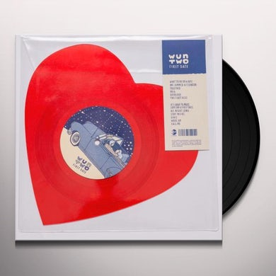 wun two FIRST DATE (HEART SHAPED 7) Vinyl Record