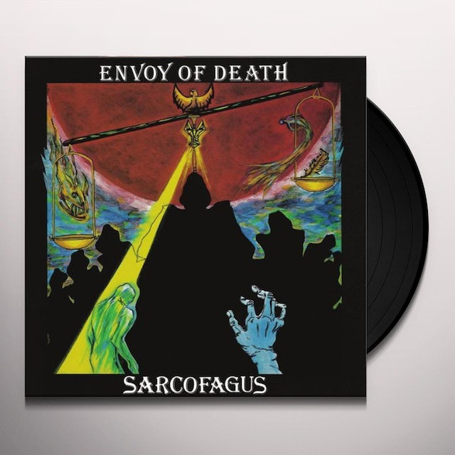 Sarcofagus ENVOY OF DEATH (RED VINYL) Vinyl Record - Portugal Release