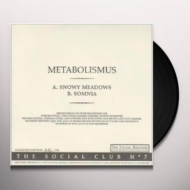 Metabolismus SOCIAL CLUB NO. 7 Vinyl Record