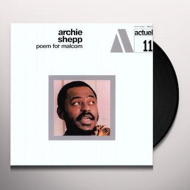 Archie Shepp POEM FOR MALCOM Vinyl Record
