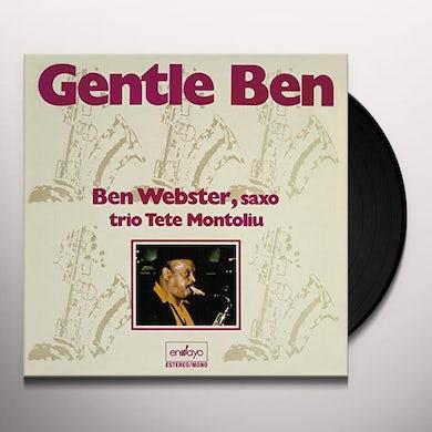 Ben Webster GENTLE BEN WITH TETE MONTOLIU TRIO Vinyl Record