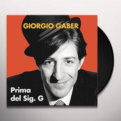 Giorgio Gaber PRIMA DEL SIG. G Vinyl Record