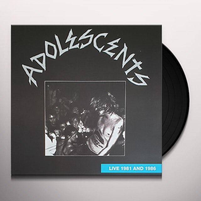 Adolescents LIVE 1981 & 1986 Vinyl Record