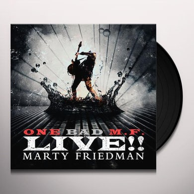 Marty Friedman ONE BAD M.F. LIVE Vinyl Record