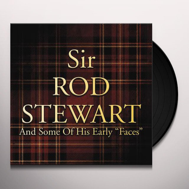 Rod Stewart SOME OF HIS EARLY FACES Vinyl Record