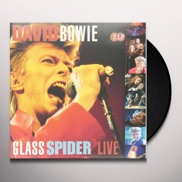 David Bowie GLASS SPIDER LIVE Vinyl Record - Holland Release