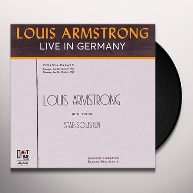 Louis Armstrong LIVE IN GERMANY 1952 Vinyl Record